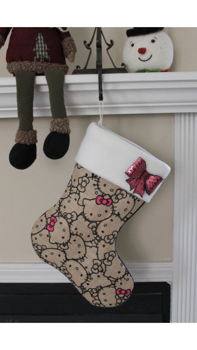 Hello kitty stocking...cute && simple :)