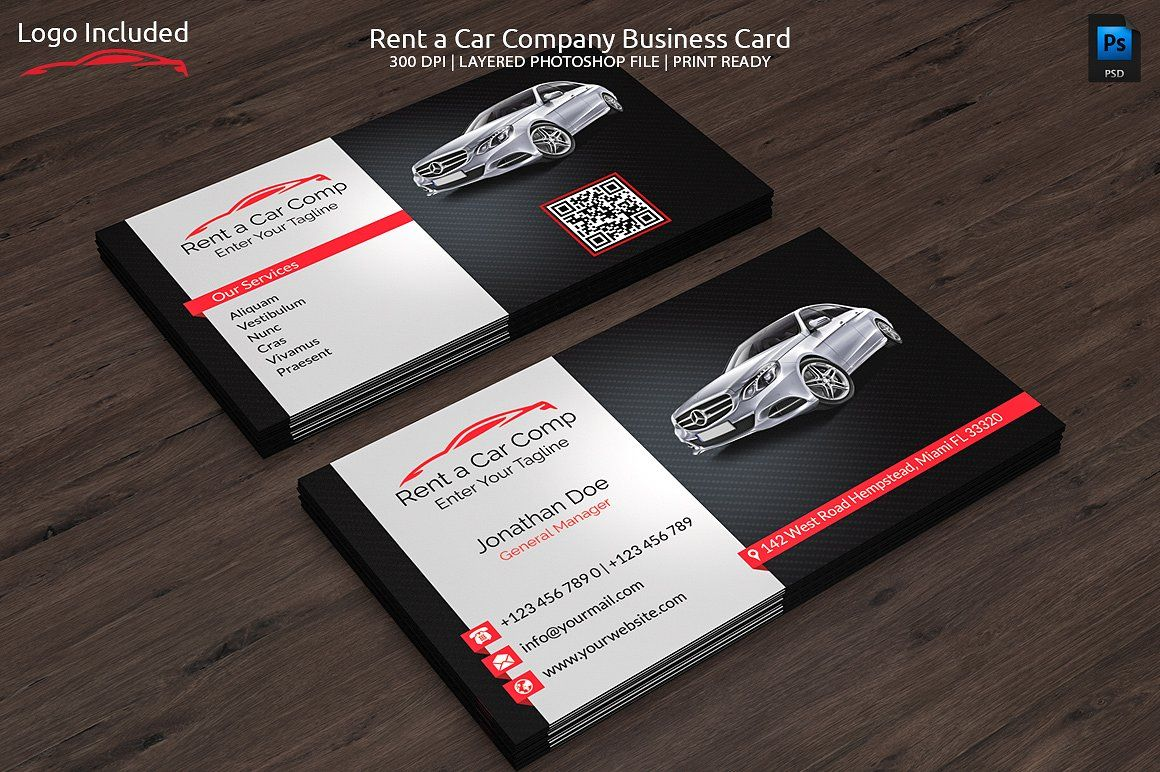 Rent a Car Business Card | Business cards, Business and Fonts