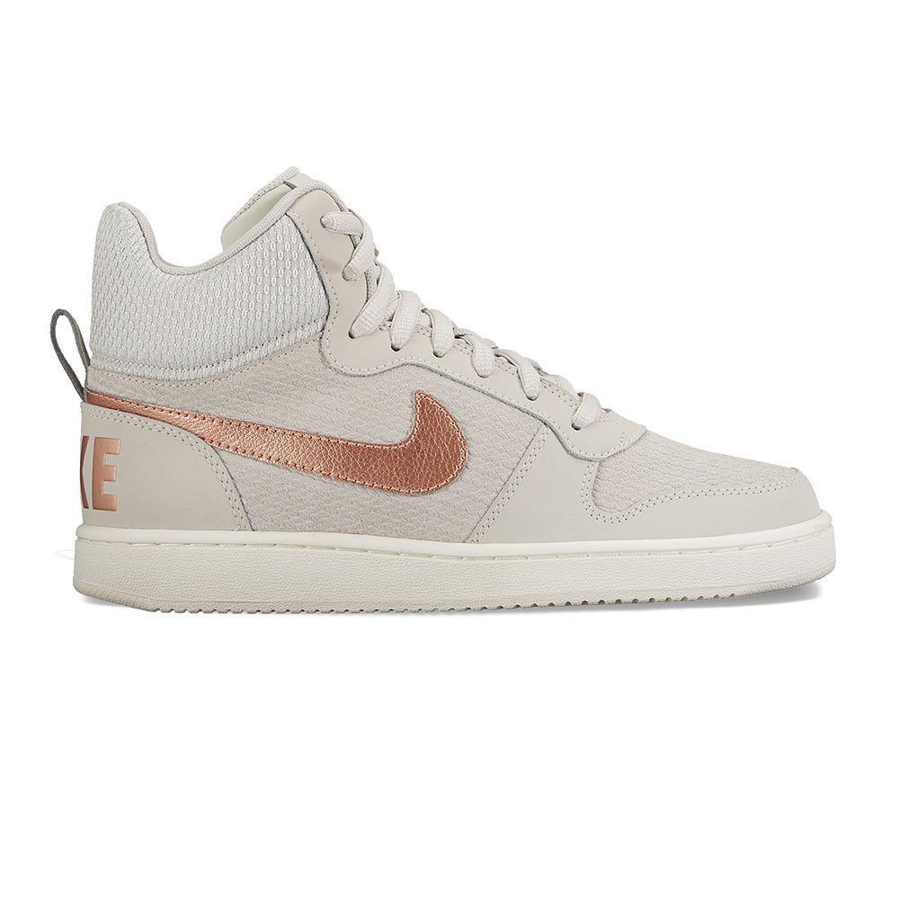 sports shoes b28aa 55546 Chaussure femme Baskets court borough low prem beige Nike