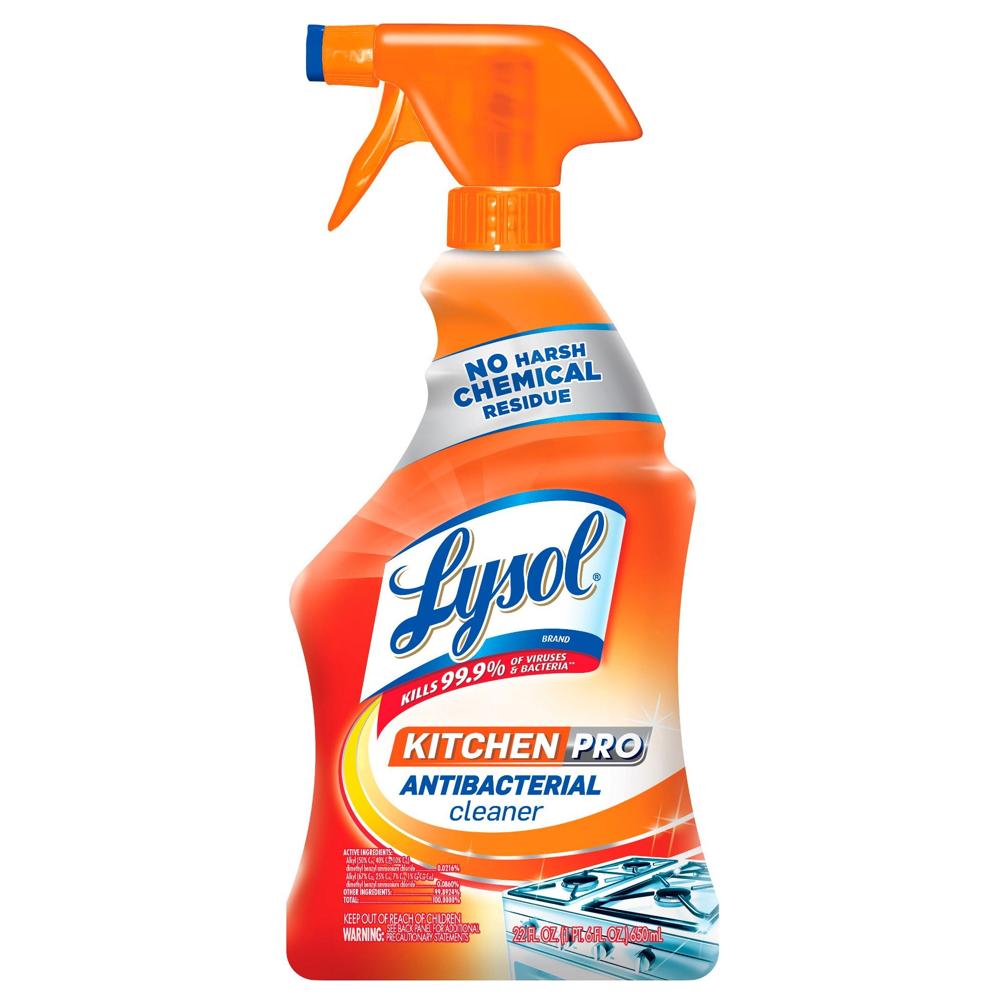 Lysol Antibacterial Kitchen Cleaner Spray 22oz Antibacterial