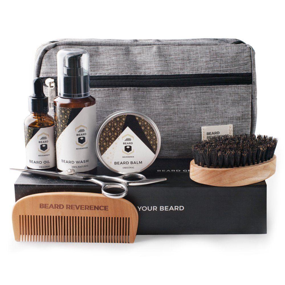 Premium Beard Grooming Kit with Upgraded