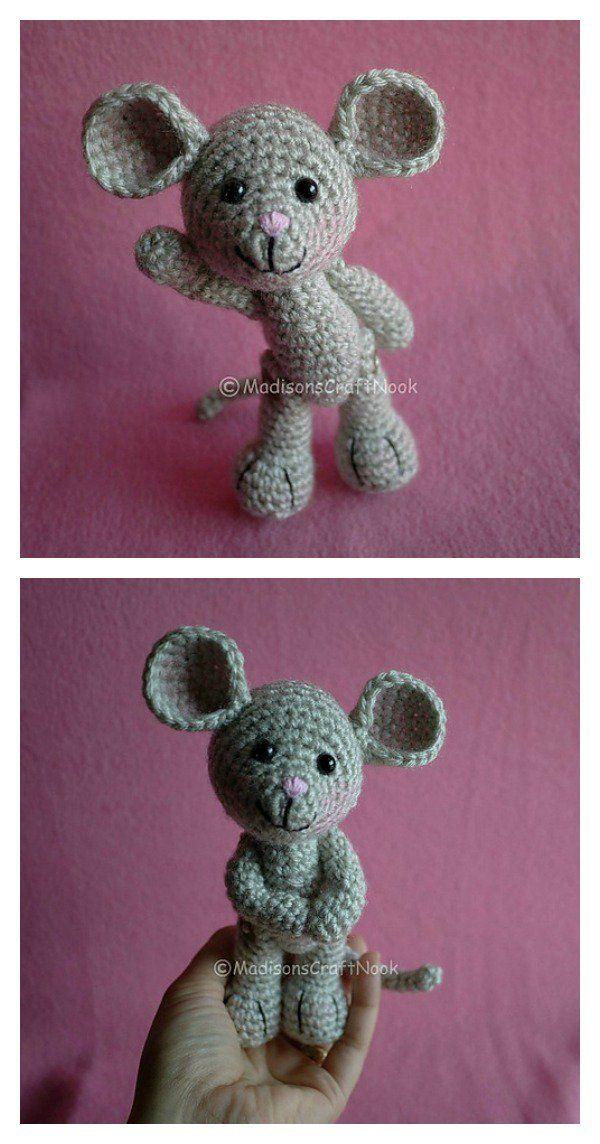 Free Mini Mouse Crochet Patterns | Patrón de ganchillo, Ganchillo y ...