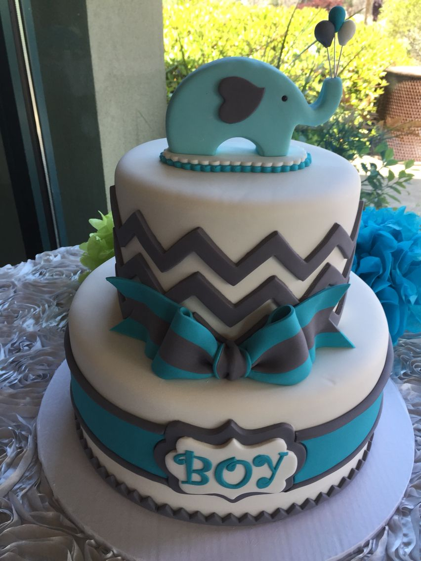 Beautiful baby shower cake from cake queens san carlos
