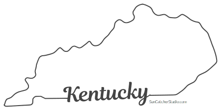 Kentucky Map Outline Printable State Shape Stencil Pattern Hand Lettering Tutorial Lettering Tutorial Fonts Map Outline