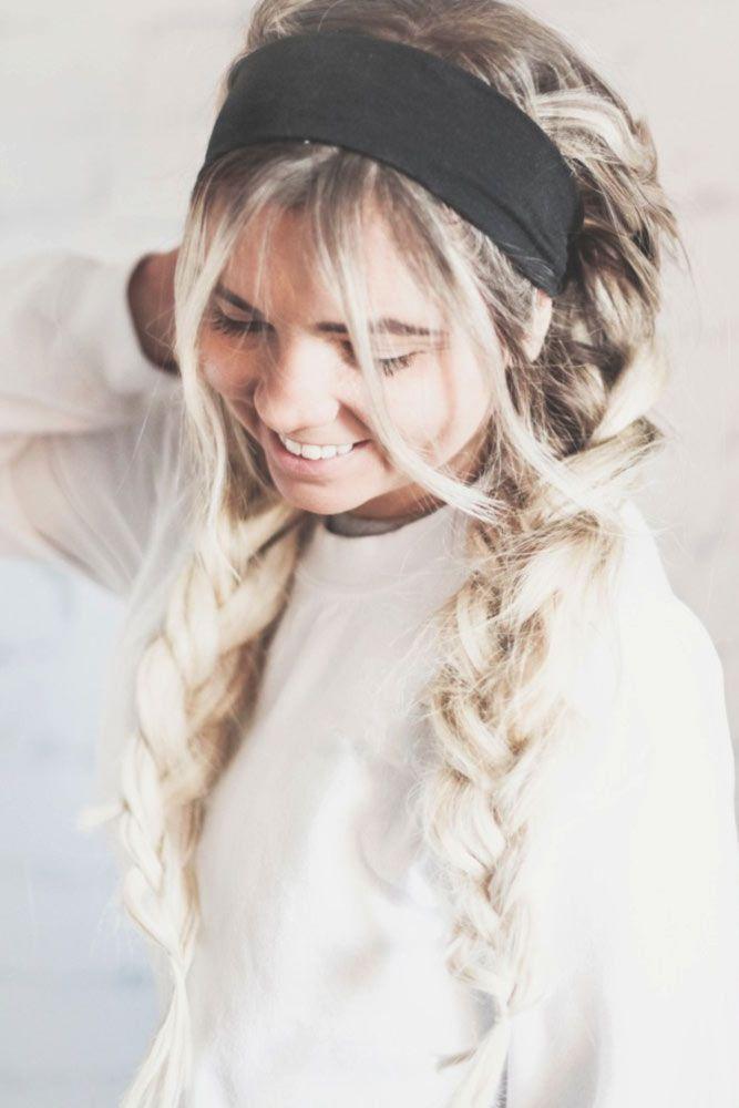 70 Cute And Creative Dutch Braid Ideas (With images) | Workout hairstyles, Hair tutorial, Hair ...