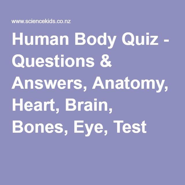 Human Body Quiz Questions Answers Anatomy Heart Brain Bones