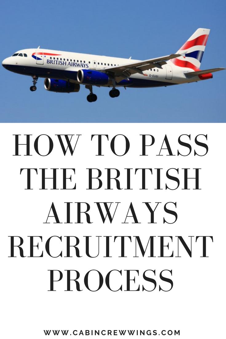 How to get through the British Airways Cabin Crew recruitment