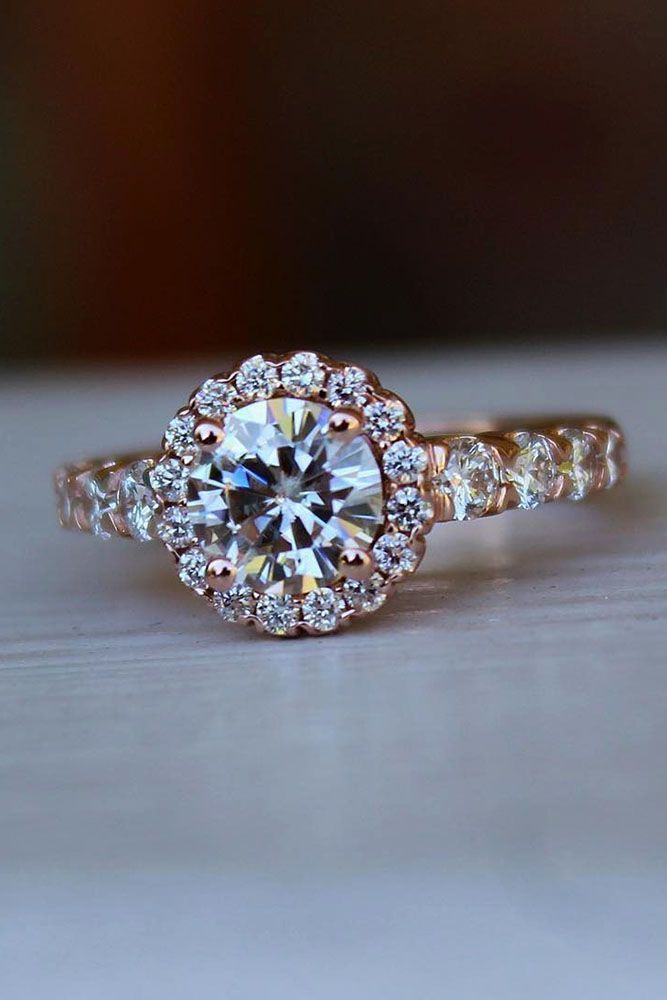 30 Halo Engagement Rings Or How To Get More Bling Wedding Bride And Round Diamonds