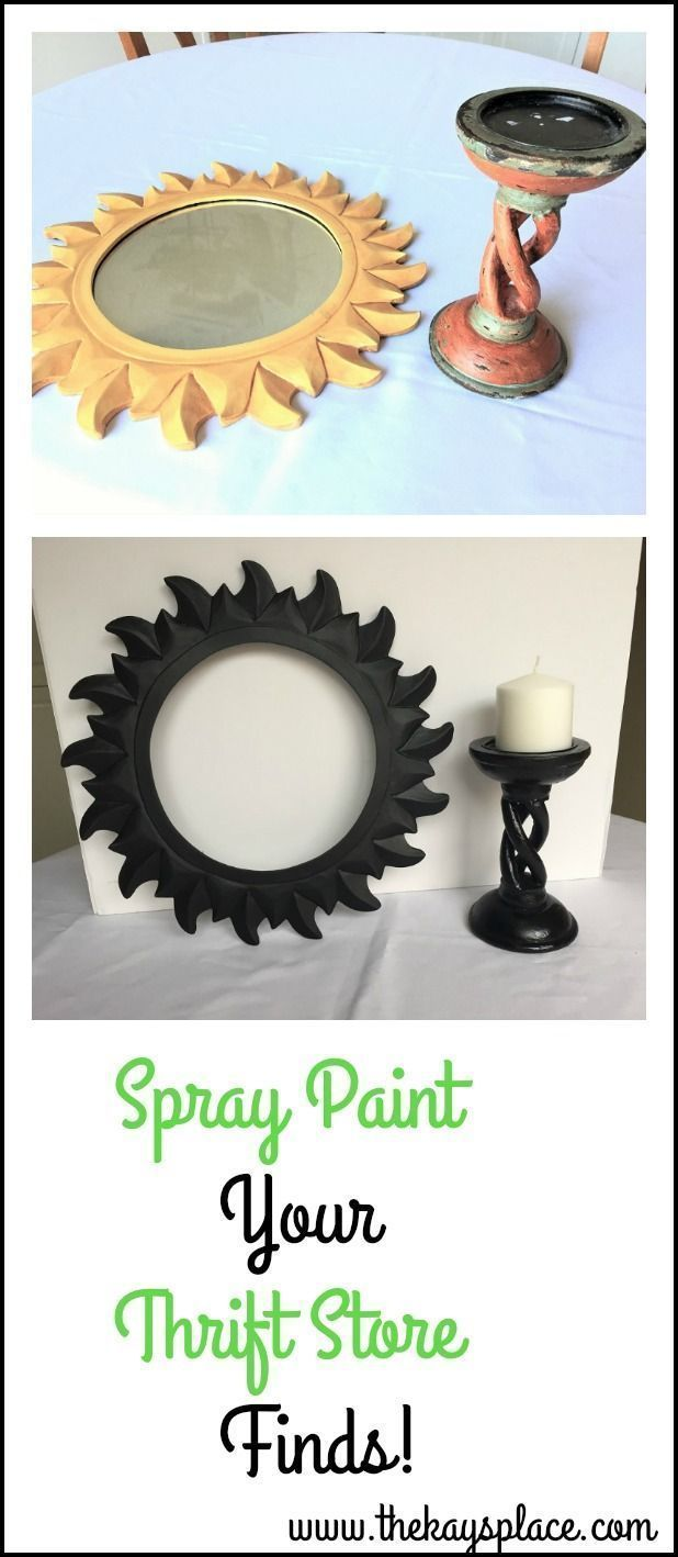 Spray Paint Your Thrift Store Finds To Give Them a Fresh New Look #thriftstorefinds