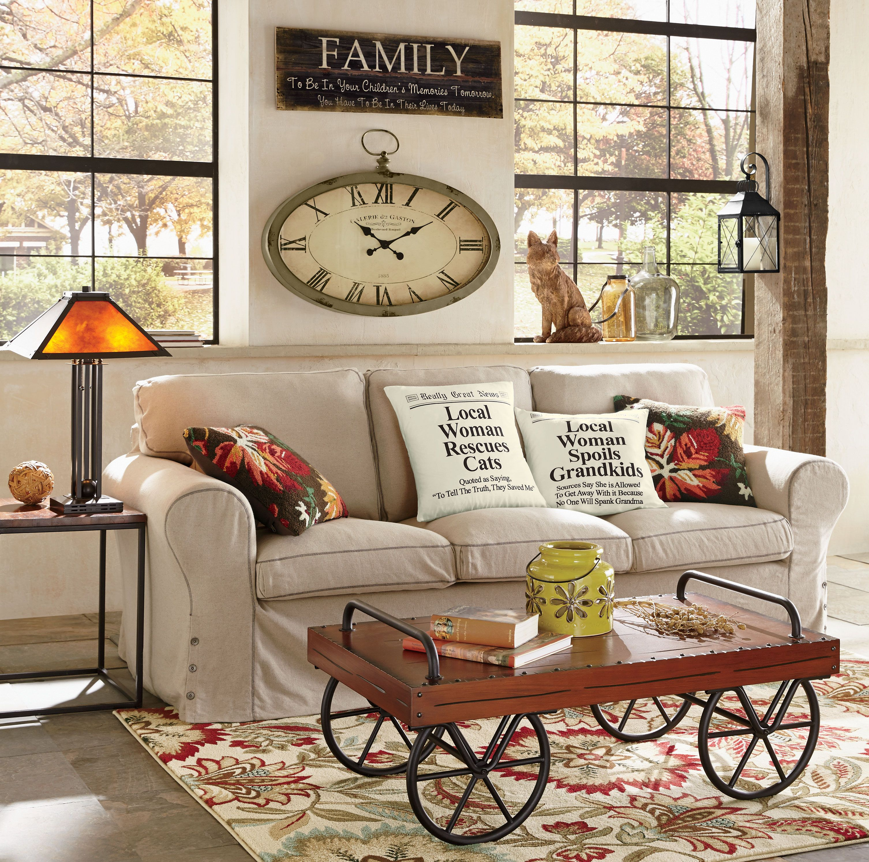 A Warm Rug Some Fall Primping Home Decor: Living Room Decorating Ideas For Fall