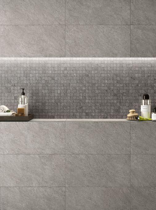 Basaltina Mosaic In Dark Grey Neutral Available At World Tile Vancouver