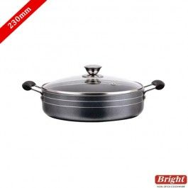 Bright Pan Buy Bright Non Stick Multi Pan With Glass Lid 230mm 3 0mm Online Prestige Pressure Cooker Buy Kitchen Glass