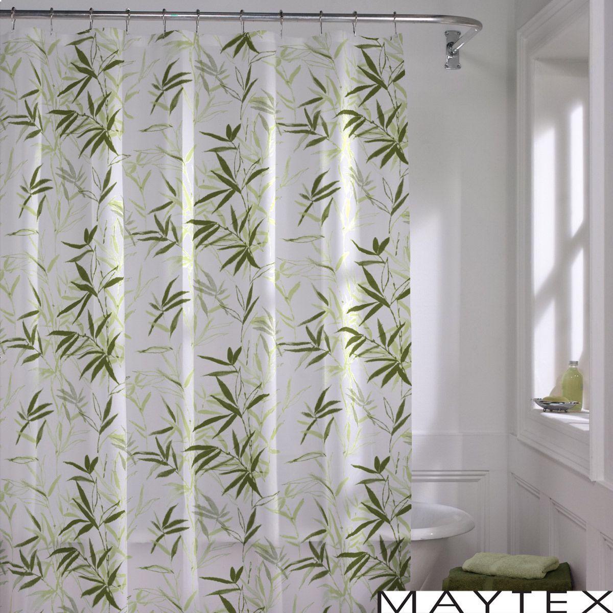 Maytex Zen Garden Shower Curtain Zen Garden Green Bamboo