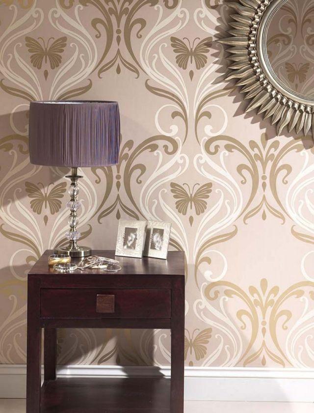 85 idées de papier peint de salon \u2013 motifs floraux et baroques