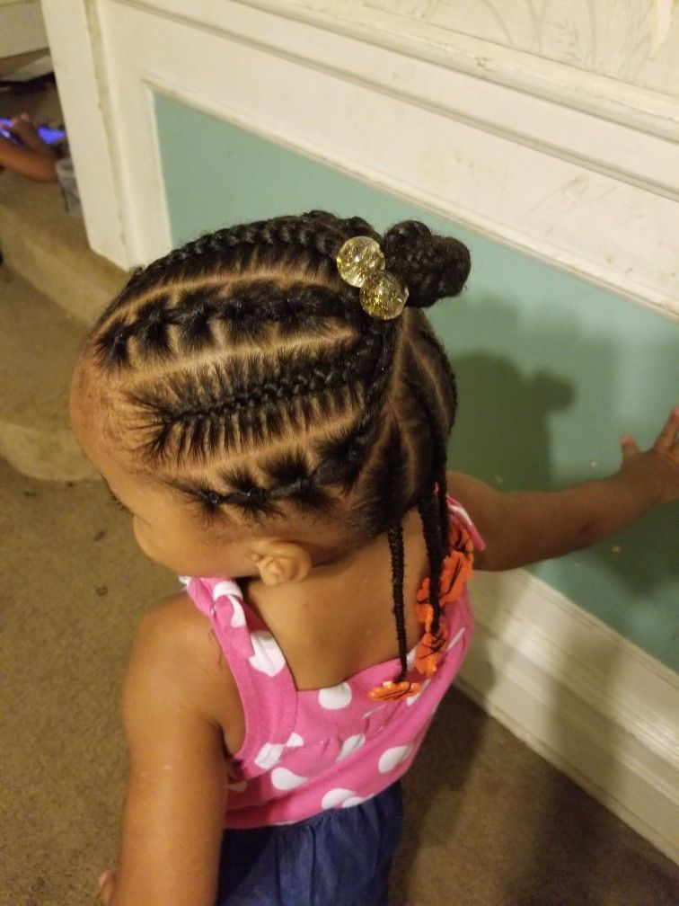 Braids And Rubber Bands Girls Hairstyles Braids Little Girl Braid Hairstyles Toddler Hairstyles Girl