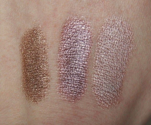 Chanel Illusion D'Ombre in '827 Initiation', '837 Fatal' & Bourjois Color Edition 24hr Cream Eyeshadow in 'Or Desir'
