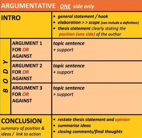argumentative essay format sample