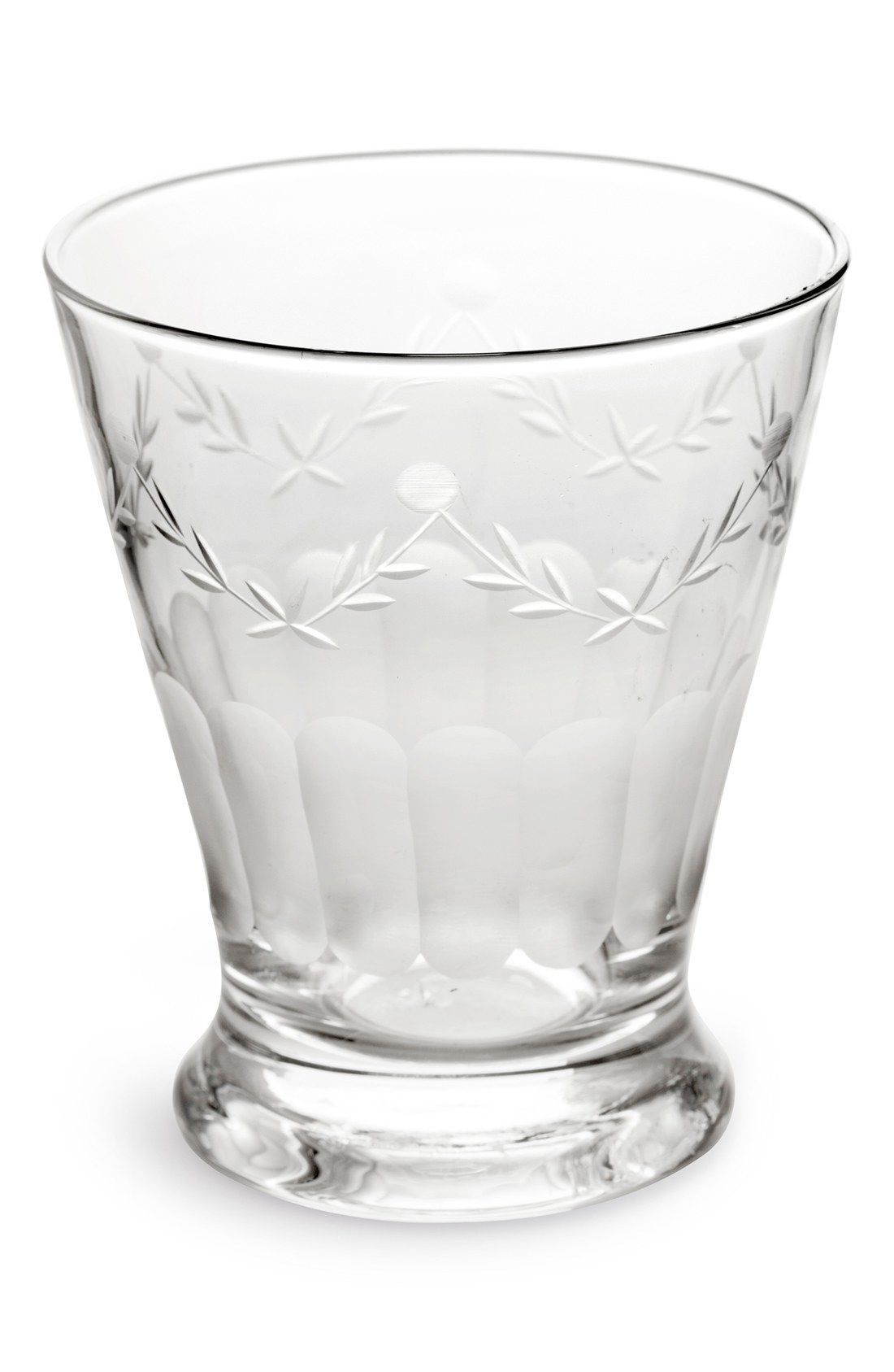 Rosanna French Bistro Etched Drinking Glasses Set Of 4 French Bistro Glass Glass Set