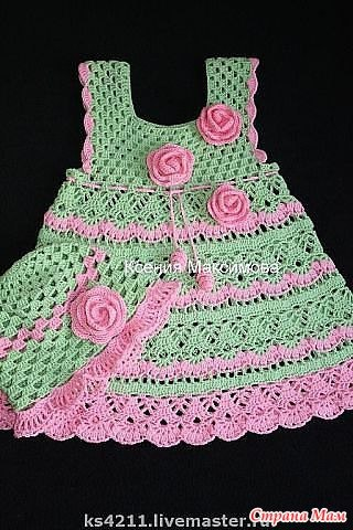 All of the crochet charts for this beautiful little dress at http://www.babyblog.ru/community/post/rukodelie/1880405  (Russian site)