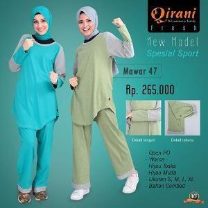 Baju Olahraga Wanita Qirani Fresh Mawar 47  09f1a38e39