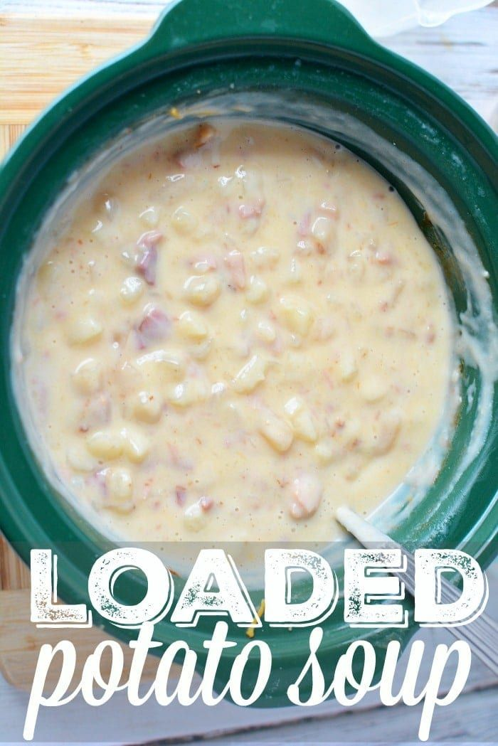 This crockpot loaded baked potato soup is super easy recipe to make and so delicious You only need a few ingredients and it only costs about 10 to feed up to 6 people Sto...