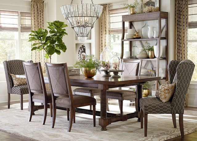 Moultrie Park Double Pedestal Dining Table Bassett Furniture With