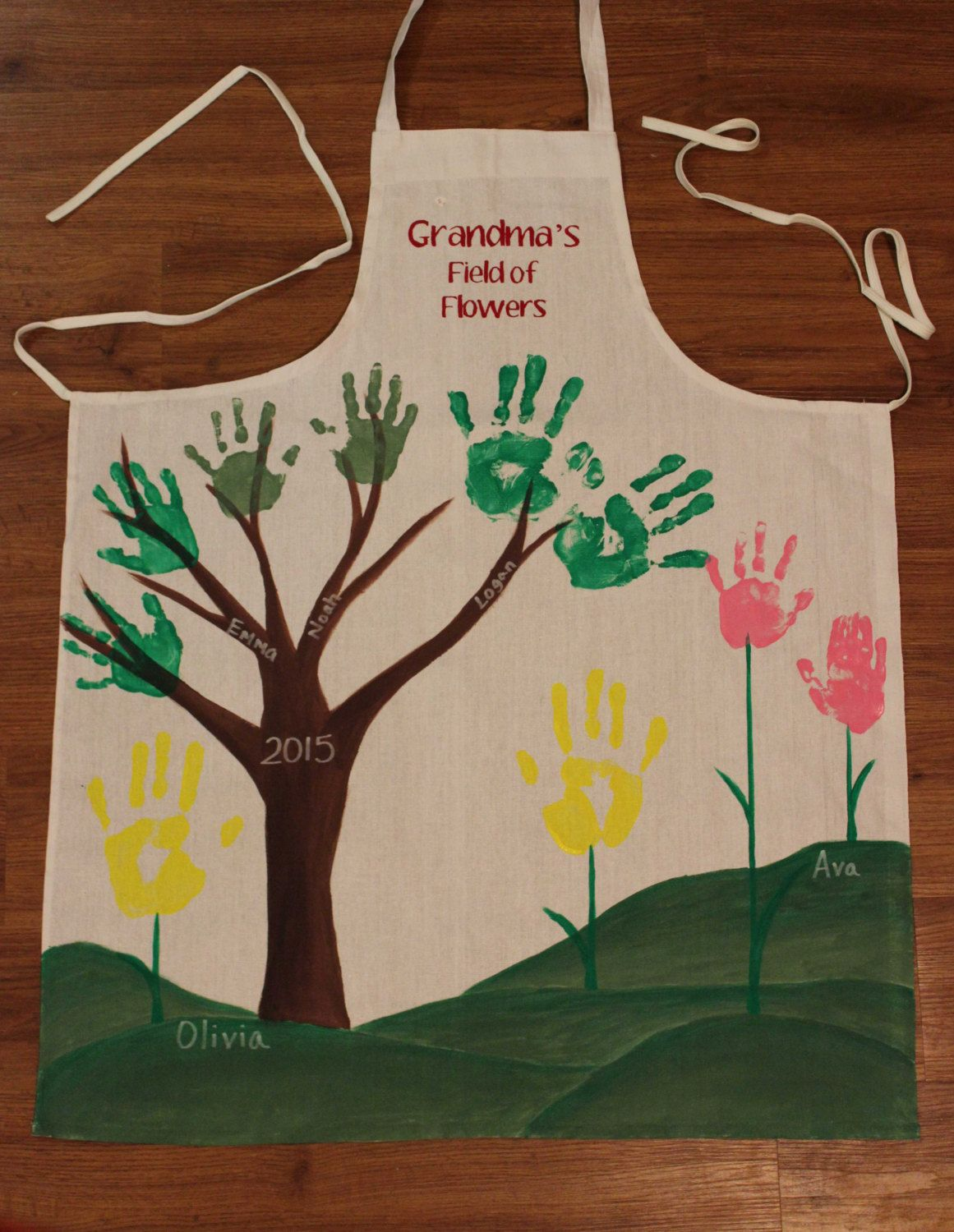 Diy Mothers Day Gifts For Grandma Mother 39s Day Partial Diy Hand Print Apron For Grandmother