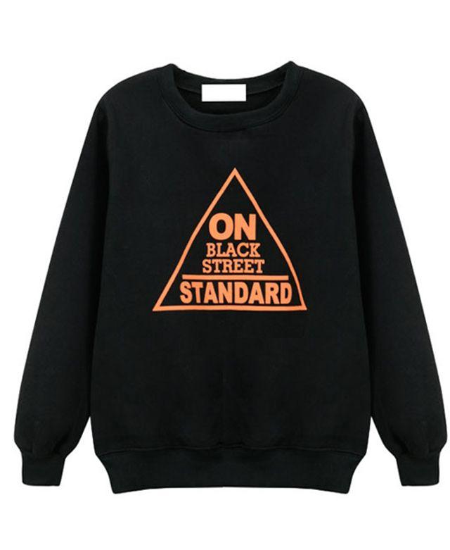 Triangle Letter Print Sweatshirt