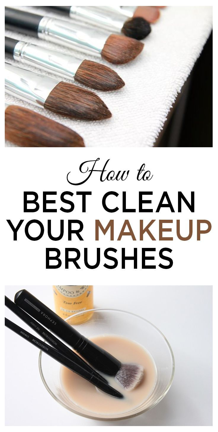 How to Best Clean Your Makeup Brushes Makeup brush