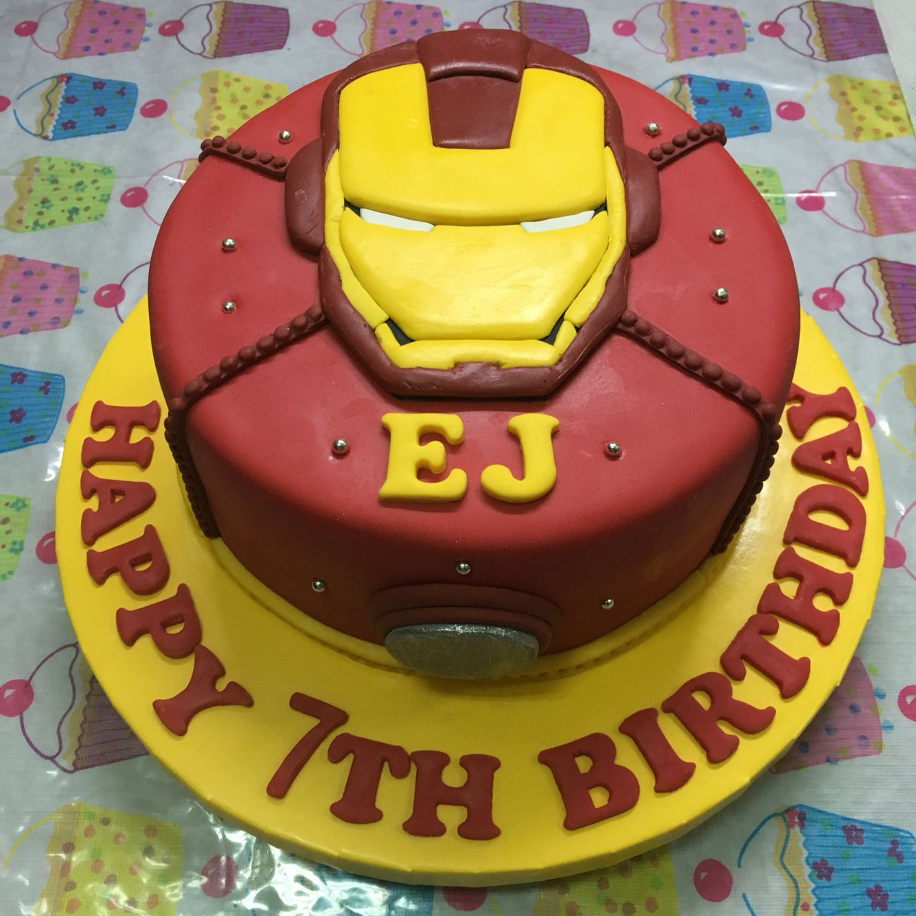 Astounding Our Very Own Ironman Cake For Ejs 7Th Bday With Images Birthday Cards Printable Trancafe Filternl