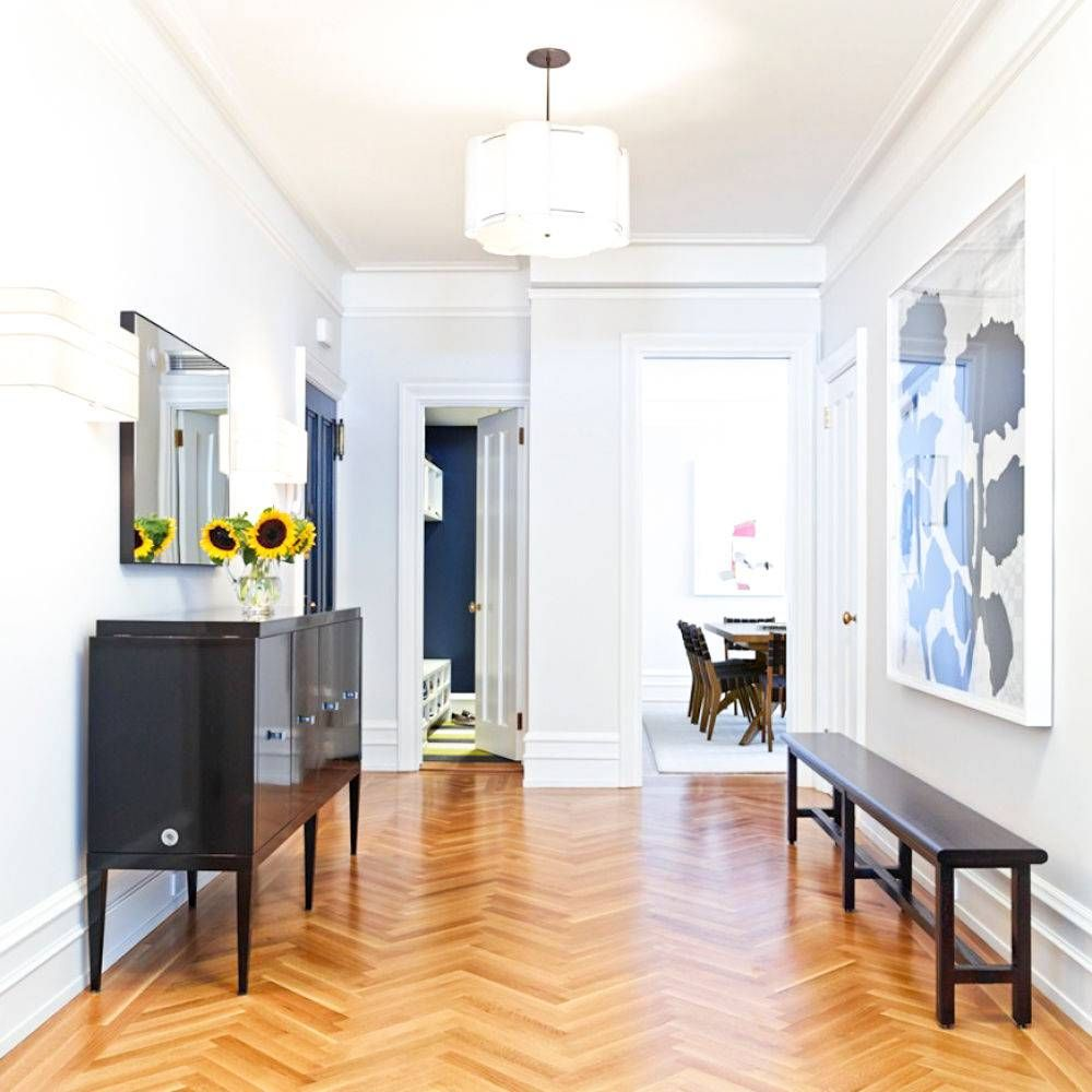 Navy hallway ideas  NYC elegance and one must see kitchen  Open entryway Kitchens and