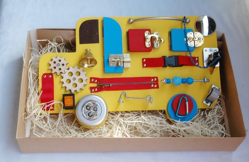 BUSY BOARD for 1 year old - Baby 1st Christmas gift ...