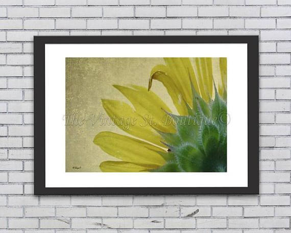 Sunflower Decor/ Rustic Art/ Cabin Art/ Digital Print/ Mothers Day ...