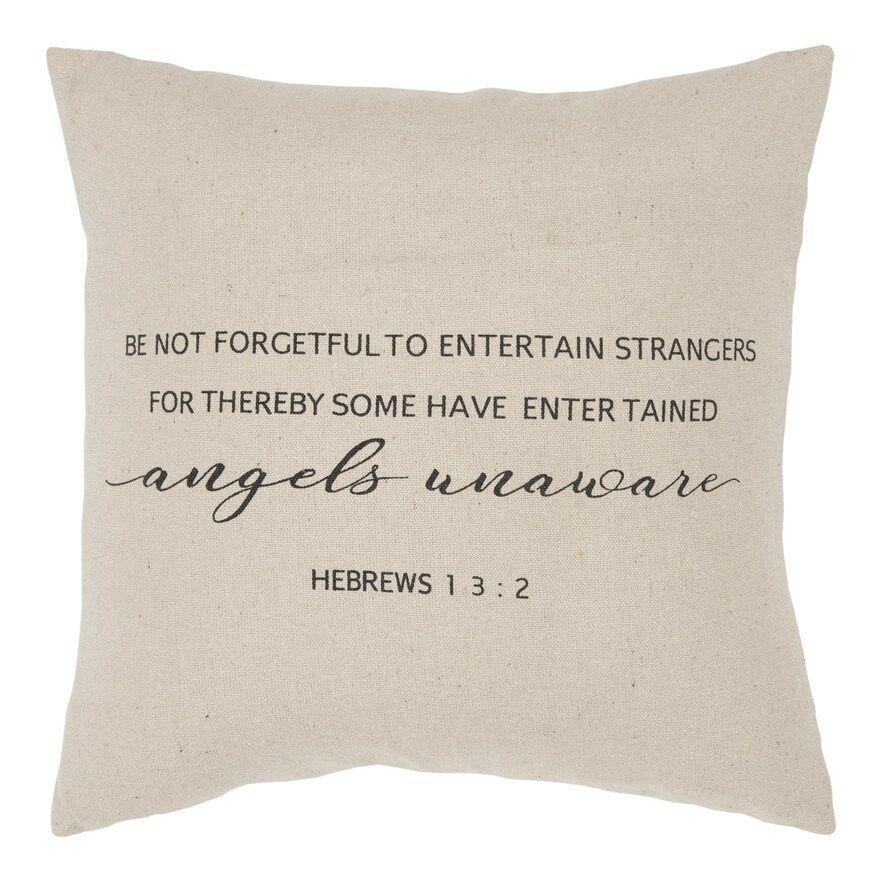 Rizzy Home Hebrews 1 3:2 Throw Pillow, Black, 20X20