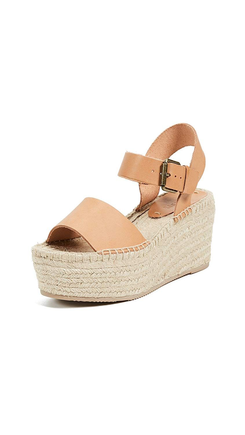 86995a1a2461f Soludos Women s Minorca High Platform Espadrille Wedge Sandal. High Platform  Leather Wedge. Women s Shoes