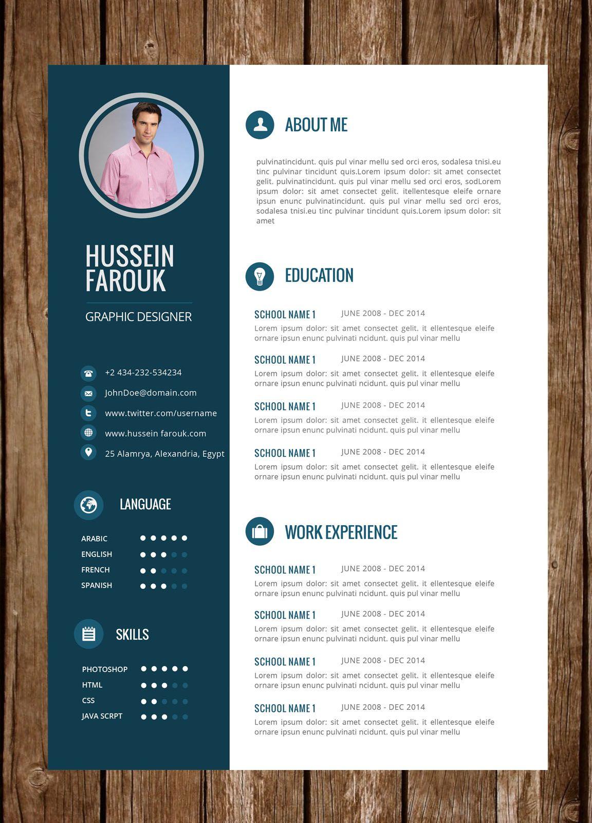 Resume 35 Cv Kreatif Desain Resume Desain Cv