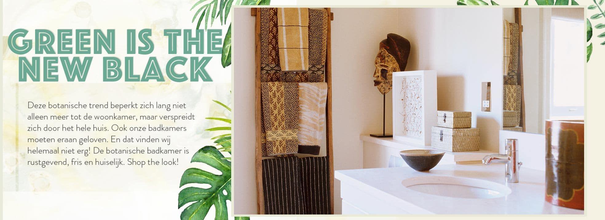 Botanisch baden | Sale bij Westwing | Badkamer ideeën | Pinterest