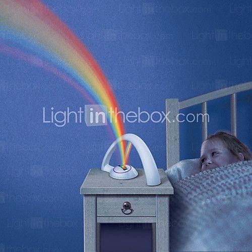 rgb fashion rainbow light for child girls led projector romantic rh pinterest com Rainbow Room Wedding Red Night Light
