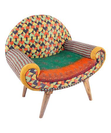 Look what I found on #zulily! Orange & Teal Modern Traveller Chair #zulilyfinds