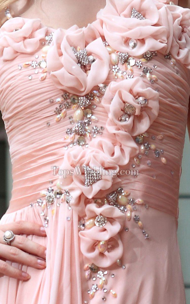 Interesante tafetán asimétrica cuello sin mangas de la cintura Mediados palabra de longitud dama de honor vestidos de Pearl Wrap