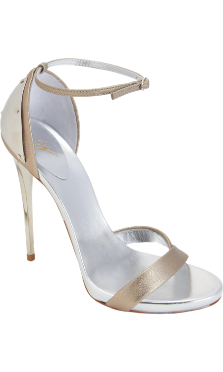 983c4c8346 Giuseppe Zanotti Plated Heel Metallic Sandal | THE GOWN BOUTIQUE ...