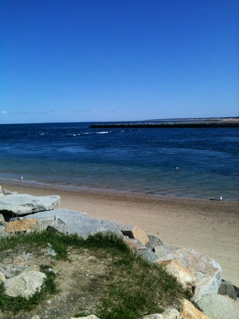 Where the Canal meets the Atlantic, Cape Cod.