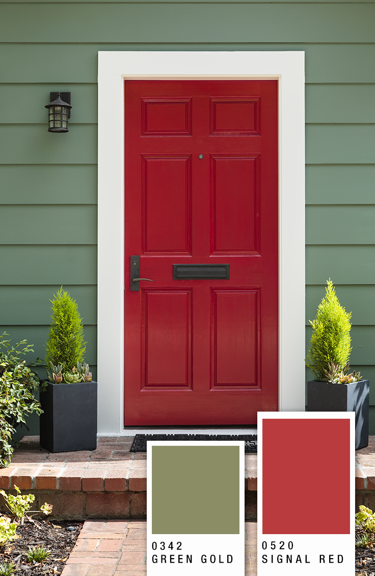 Paint Your Front Door With A Glossy Color To Make A Great First Impression Http Www Scibpaints Exterior Color Combinations House Paint Exterior Wall Colors