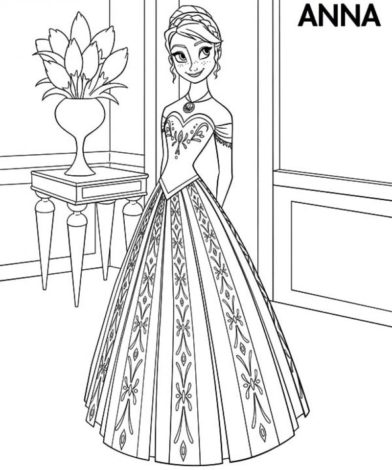 Princess Coloring Pages Disney Pinterest Princess Anna Frozen