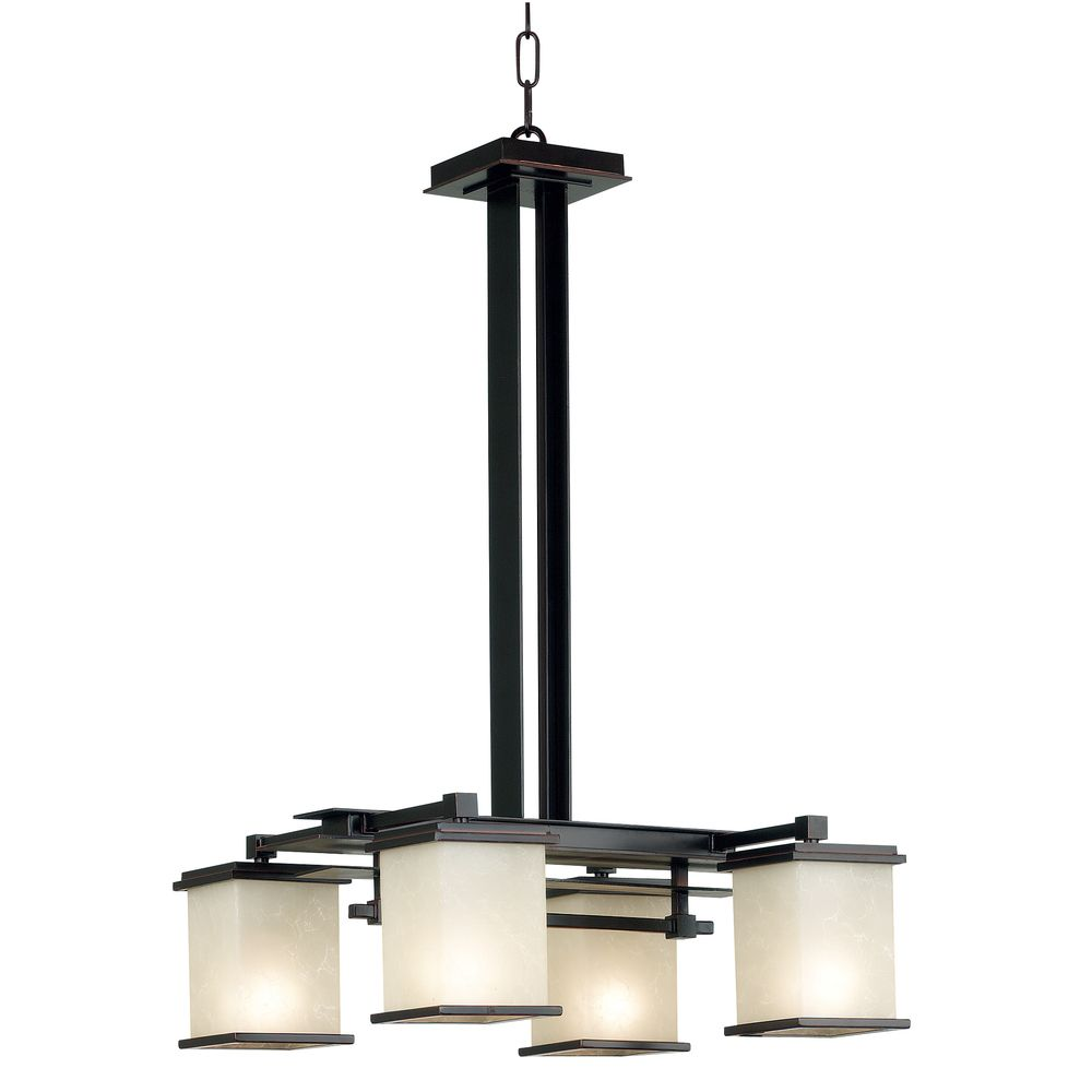 Abriella 4-light Oil Rubbed Bronze Chandelier - Overstock™ Shopping - Great Deals on Design Craft Chandeliers & Pendants