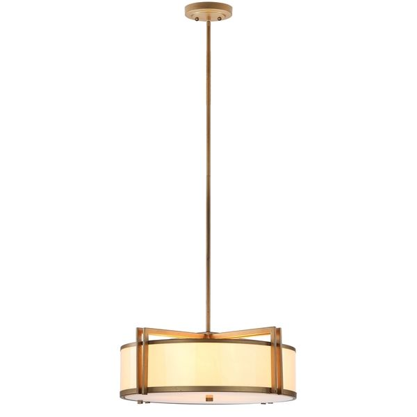 Overstock Pendant Lights Gorgeous From Overstock  Safavieh Indoor 5Light Orb Drum Gold Pendant Review