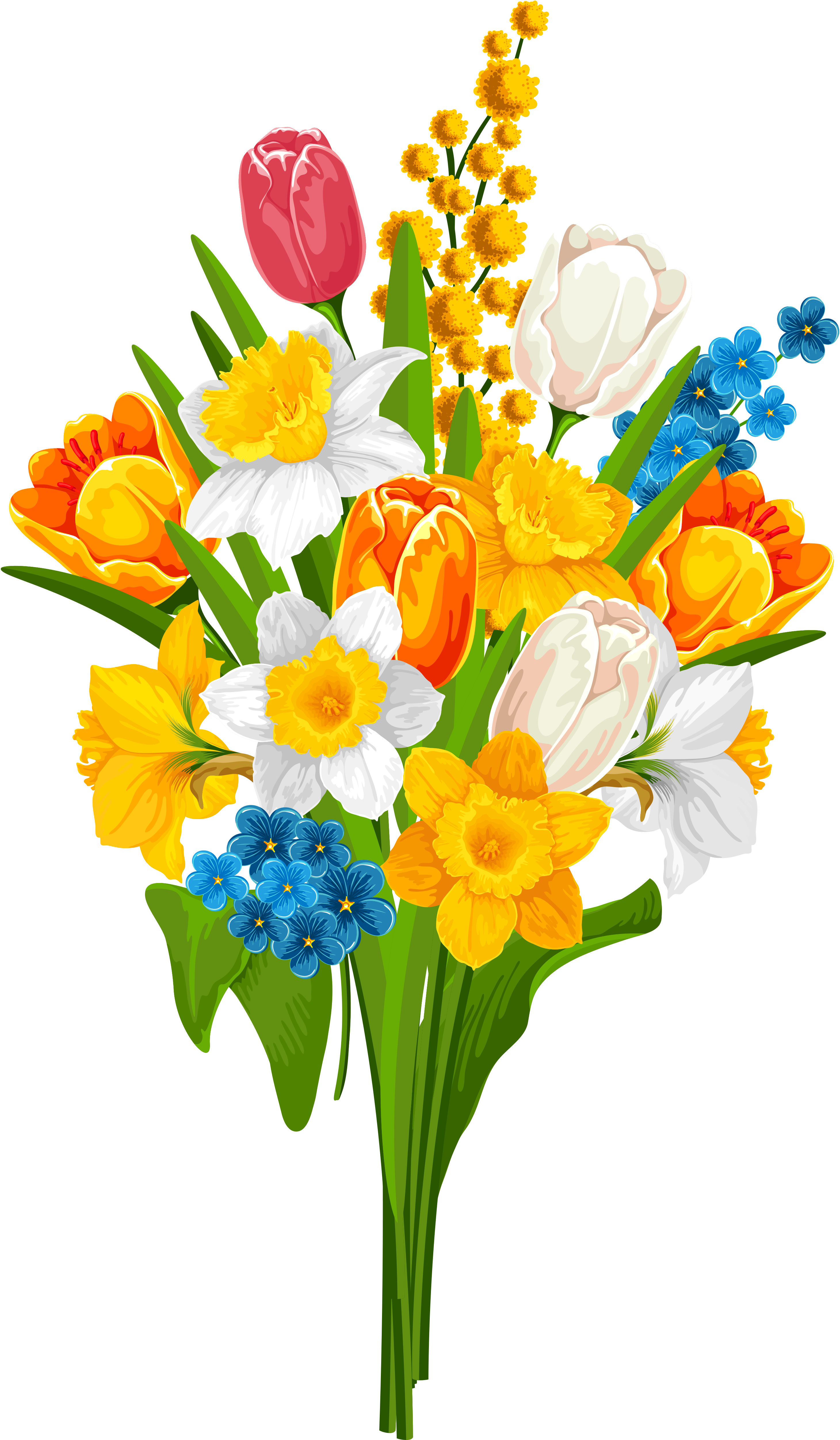 Картинка букет цветы для детей