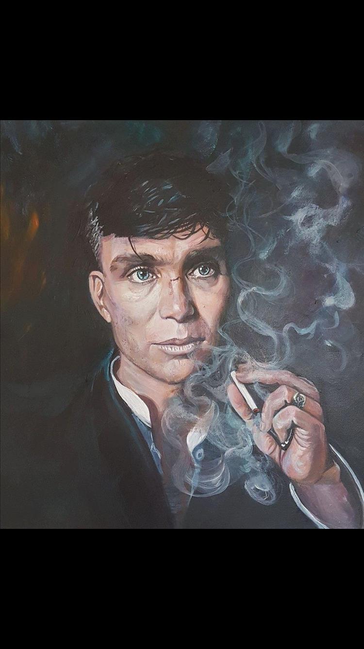 Tommy Shelby Painting Peaky Blinders Cillian Murphy Peaky Blinders Jamie Dornan