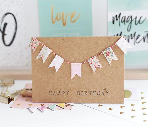 Diy Karten Zum Geburtstag Basteln Frantasiaaa Bastelblog