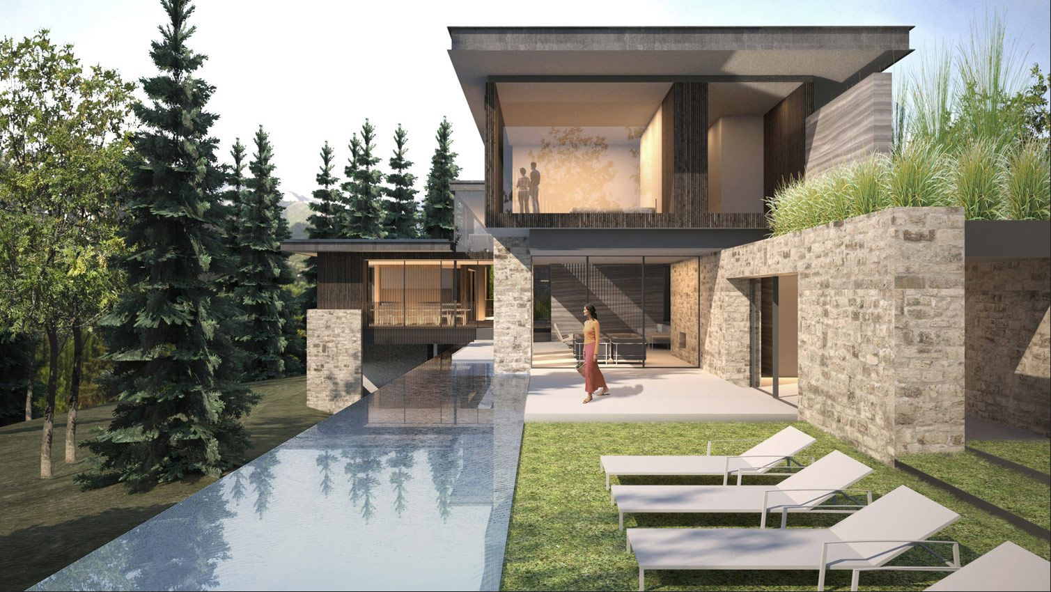 Aidlin Darling Design Aspen Residence Pool House Designs